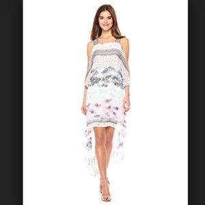BCBG Aaric Floral Asymmetrical Dress